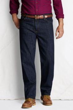 Men's Comfort Waist Denim Jeans from Lands' End Fashion Ideas, Men's Fashion, Denim Jeans, Craft Ideas, Pocket, Suits, Moda Masculina, Man Fashion, Fashion For Men