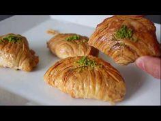 Oklavasız 2 beze ile sonuç beni bile şaşırttı😱 MİDYE BAKLAVA Tarifi - YouTube Iftar, Baked Potato, Sushi, Pork, Food And Drink, Make It Yourself, Ethnic Recipes, Desserts, Youtube