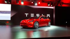 Tesla Rolls Out The Red Carpet To Introduce The Model 3