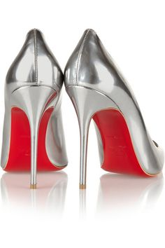 69644ba5ab7 Christian Louboutin - Décolleté 100 metallic leather pumps