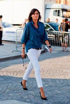 INSPIRACIÓN PARA LLEVAR LA CAMISA DENIM ESTA TEMPORADA   Confesiones de una Casual Girl   #moda #inspiración #looks #outfit #denim #shirt #fashion #style