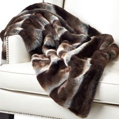 Master bed - Zambia Throw - Chocolate from Z Gallerie