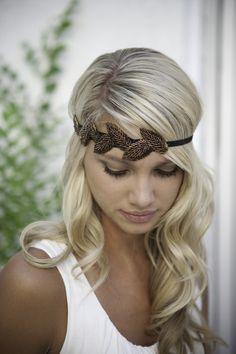 Copper leaf headband