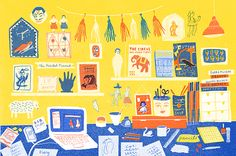 The workspace of Louise Lockhart