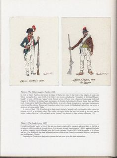 Army of Egypt: Plate 32: The Maltese Legion, Fusilier, 1800. + Plate 33: The Greek Legion, 1800.
