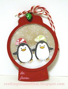 Penguin shaker tag - from Papertrey Nov blog hop
