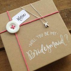 A fun and creative way to ask the bridesmaids.