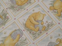 Classic Winnie the Pooh twin fitted sheet