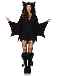 Women's Sexy Cozy Bat Costume - Animals Costumes for Adults