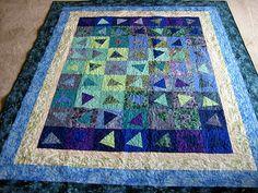 blue quilt by carpe feline on Flickr