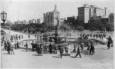 The Archibald Fountain, Hyde Park, Sydney, circa Hyde Park Sydney, Sydney City, Architecture Old, Historical Architecture, Aboriginal History, Australian Photography, Historical Pictures, Sydney Australia, East Coast
