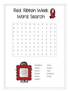 Smart image in red ribbon week printable activities