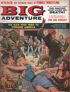 World of Men Pulp Magazine October Lust Slaves Nazi Treasure Cave- FN in Collectibles, Comics, Magazines Pulp Magazine, Magazine Art, Magazine Covers, Pulp Fiction Art, Pulp Art, Science Fiction, Adventure Magazine, Its A Mans World, Comic Covers