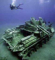 What happens to all of our tanks, planes and ships when the war is over? It seems that a lot of them are left on the battlefield to rust and rot as seen in this interesting collection of photos. See the full gallery at the link. Link...