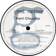 Kerri Chandler - All I Have Is This Feeling / Je T'aime