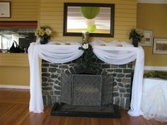 decorative fireplaces for weddings | Wedding Angels Decorating Ltd - Wedding Planning & Decorating Services ...