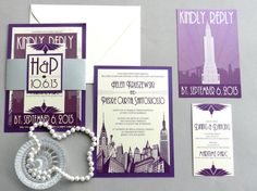 This unique invitation will set the tone for your elegant New York wedding. This invitation includes full tailoring to your wedding,