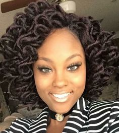 Crochet braids made a huge debut in 2015 and we're sure they are not going out of style anytime soon. Check out this list of chic Crochet Braids Hairstyles! Crochet Braids Hairstyles, Dreadlock Hairstyles, Bob Hairstyles, Braided Hairstyles, Long Hairstyle, African Hairstyles, Protective Hairstyles, Hairdos, Protective Styles