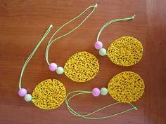 Easter melted hama perler egg ornaments by Malene Nielsen