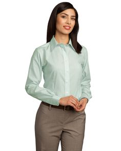 Fine Line Shirt - Buy discount 100% two-ply cotton red house ladies fine line non-iron button-down shirt available in several colors at Gotapparel.com.
