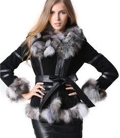 Winter Women's Real Fur Coats Moto & Biker Genuine Leather Coat Fox Fur Collar Plus Size Natural Fur Jackets Women Clothes 2018 >> Click picture for details << Winter Jackets Women, Coats For Women, Clothes For Women, Clothes 2018, Cyberpunk Fashion, Fur Fashion, Chanel Fashion, Outerwear Women, Fox Fur