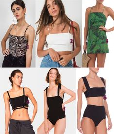 Tendência dos anos 90: Decote reto Tankini, Ideias Fashion, Swimwear, Fashion Trends, Dresses, Style, 1990s Trends, Shopping, Fashion Inspiration