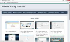 WebsiteMakingTutorials.com contains FREE Video Tutorials that Show You How to Build Websites!