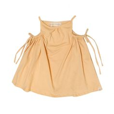Tunnel Dress - Mango    Sweet, simple style with a little edge, Go Gently Baby creates stylish, earth friendly apparel for children and shares the vision: Teach your children to Love others, Be kind to the earth and to Go Gently on their journey through life.    Organic and sustainable fabrics are chosen each seaso...