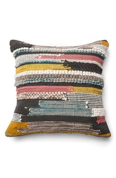 LOLOI Mixed Media Pillow available at #Nordstrom