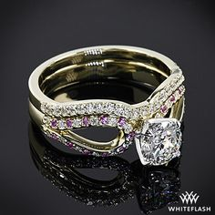 """""""Infinity"""" Diamond Engagement Ring and Wedding Ring"""