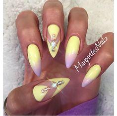 Cute acrylic gel nails
