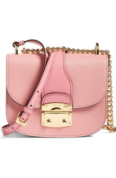 Miu Miu Madras Leather Satchel Bag