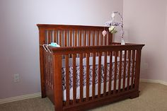 """How to repaint your crib..(link to """"how to spray paint your furniture"""")"""