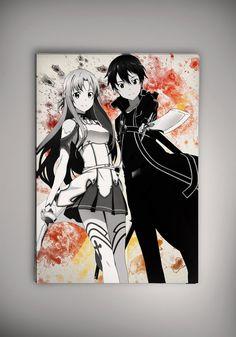 Kirito Asuna SAO Sword Art Online Anime Manga por EpicShoppe