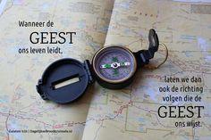 Wanneer de Geest ons leven leidt, laten we dan ook de richting volgen die de Geest ons wijst. Galaten 5:25  #Geest  http://www.dagelijksebroodkruimels.nl/galaten-525/