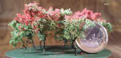 BUSHES, SHRUB (set of 6); For #landscape layouts, model #railroads and #architecture #diorama; Scale 1/300-1/200 (Z) Landscape Architecture, Landscape Design, Diorama, Shrubs, Layouts, Glass Vase, Scale, Model, Decor