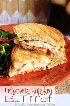 Leftover Turkey BLT Melt - This sandwich takes the BLT to the next level with leftover roasted turkey and a dijon mayo spread!