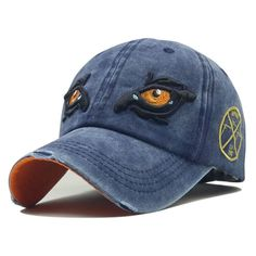 39d07ee3 Men Embroidery Eagle Eyes Pattern Vintage Cotton Washed Breathable  Adjustable Baseball Cap is hot sale on Newchic.