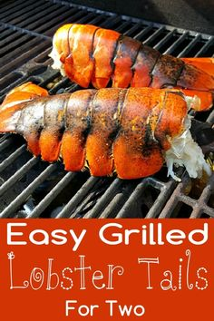 Grilled Lobster Tails Recipe for Two - A lobster lover's delight, these succulent grilled lobster tails are super quick and easy. Dip the flavorful meat into the rich buttery sauce. Sometimes you just need to treat yourselves with the finest food. Bbq Lobster Tails, Cooking Frozen Lobster Tails, Broiled Lobster Tails Recipe, Grilled Lobster Tails, Grilling Recipes, Cooking Recipes, Grilling Tips, Healthy Recipes, Healthy Cooking