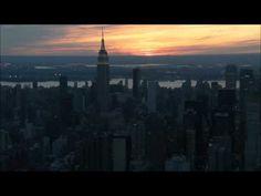 Sunset Over New York City Aerial - YouTube