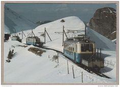 Chemins De Fer Montreux Glion Rochers De Naye - Automotrice ABhe 2/4 N° 201, 206 Et 204 - La Perche, 11.4.1982 - Railway - Trains