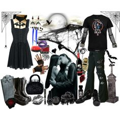 """""""I'll love you for an eternity"""" by octoburfrost on Polyvore #goth #gothic…"""