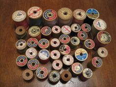 More vintage thread spool labels!
