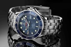 Presenting the complete list of James Bond watches, including the Casino Royale watch, Goldeneye watch, and more. Big Watches, Best Watches For Men, Seiko Watches, Cool Watches, Omega Seamaster 300, Omega Seamaster Planet Ocean, Rolex Gmt, Rolex Submariner, Hamilton Watch Company