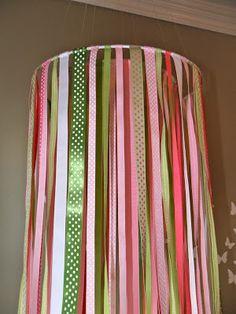 Pottery Barn Knock-Off Ribbon Mobile - {Tutorial} - Between U & Me