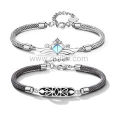 Gullei.com Matching Best Friends Bracelets Set for 2 Personalized Couples Gifts | Matching Necklaces & Bracelets | Custom Promise Rings Custom Promise Rings, Matching Promise Rings, Matching Couple Bracelets, Promise Rings For Couples, Wedding Rings For Women, Matching Necklaces, Platinum Diamond Wedding Band, Best Friend Bracelets, Jewelry Cleaning Cloth