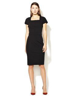 Square Neck Wool Sheath  by Narciso Rodriguez on Gilt.com