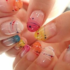 Pin by ai on ネイル in 2019 Coffin Nails, Gel Nails, Manicure, Nail Polish, Summer Acrylic Nails, Summer Nails, Cute Nails, Pretty Nails, Nail Art Designs