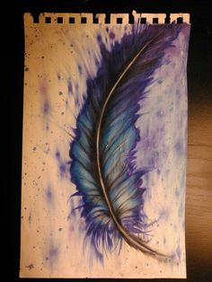 Wooo blendy colored pencils! Abstract feather colored pencil drawing by me melanie. Almost done!
