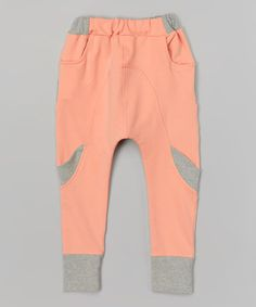 Look what I found on #zulily! Pink & Gray Harem Pants - Infant, Toddler & Girls #zulilyfinds